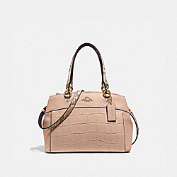 MINI BROOKE CARRYALL - f31532 - BEECHWOOD/light gold