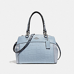 MINI BROOKE CARRYALL - f31532 - SILVER/PALE BLUE