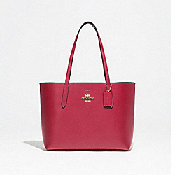 AVENUE TOTE - F31535 - CHERRY/CHESTNUT/LIGHT GOLD