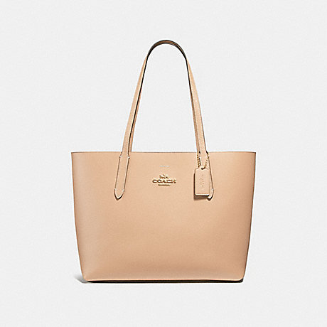 COACH F31535 AVENUE TOTE BEECHWOOD/WINE/LIGHT-GOLD