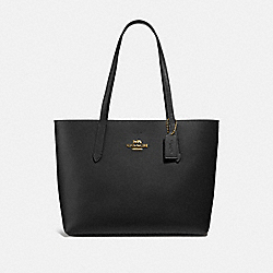 COACH F31535 Avenue Tote BLACK/RED/LIGHT GOLD