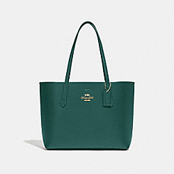 COACH F31535 Avenue Tote DARK TURQUOISE/MIDNIGHT/LIGHT GOLD