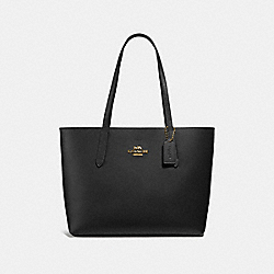 AVENUE TOTE - F31535 - BLACK/NEON PINK/LIGHT GOLD