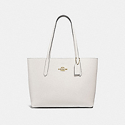 AVENUE TOTE - F31535 - CHALK/WINE/IMITATION GOLD