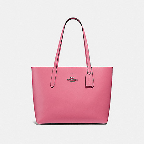 COACH F31535 AVENUE TOTE LIGHT-PINK/OXBLOOD/SILVER