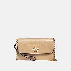 COACH F31552 Chain Crossbody BEECHWOOD/LIGHT GOLD