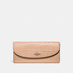 SLIM ENVELOPE WALLET - f31565 - BEECHWOOD/light gold