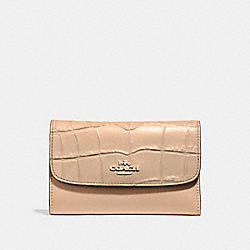MEDIUM ENVELOPE WALLET - COACH f31566 - BEECHWOOD/light gold