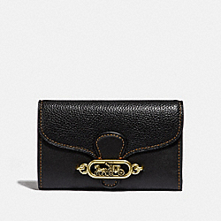 COACH F31579 Medium Envelope Wallet BLACK/OLD BRASS