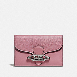 COACH F31579 Medium Envelope Wallet SILVER/DUSTY ROSE