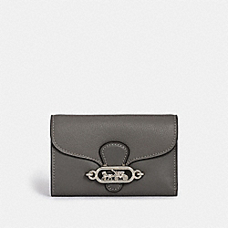 COACH F31579 Medium Envelope Wallet HEATHER GREY/SILVER