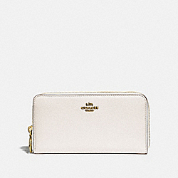 COACH F31583 Accordion Zip Wallet CHALK/OLD BRASS