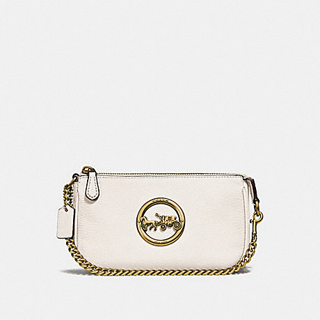 COACH F31584 LARGE WRISTLET 19 CHALK/OLD-BRASS