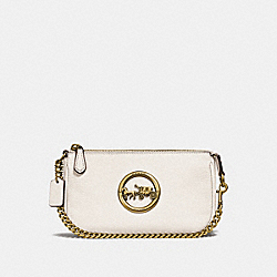 COACH F31584 - LARGE WRISTLET 19 CHALK/OLD BRASS