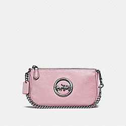 COACH F31584 - LARGE WRISTLET 19 CARNATION/SILVER