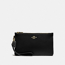 COACH F31585 Crosby Clutch BLACK/LIGHT GOLD
