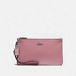 COACH F31585 Crosby Clutch SILVER/DUSTY ROSE