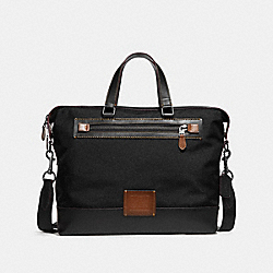 COACH F31592 - ACADEMY HOLDALL BLACK/BLACK COPPER FINISH