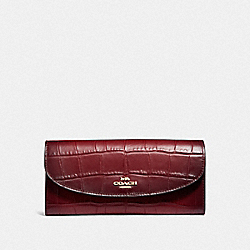COACH F31607 Slim Envelope Wallet CHERRY /LIGHT GOLD