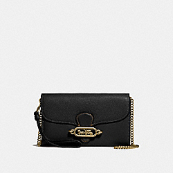 CHAIN CROSSBODY - f31610 - BLACK/OLD BRASS