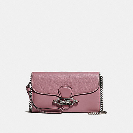 COACH F31610 CHAIN CROSSBODY DUSTY-ROSE/SILVER