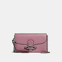 COACH F31610 Chain Crossbody SILVER/DUSTY ROSE
