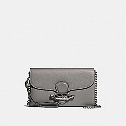 CHAIN CROSSBODY - f31610 - heather grey/silver