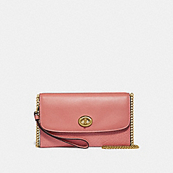 COACH F31620 - CHAIN CROSSBODY MELON/LIGHT GOLD