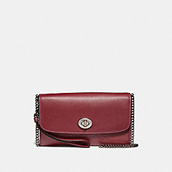 COACH F31620 - CHAIN CROSSBODY CHERRY/SILVER