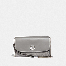 COACH F31620 Chain Crossbody HEATHER GREY/SILVER