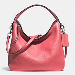 BLEECKER SULLIVAN HOBO IN PEBBLE LEATHER - f31623 -  ANTIQUE NICKEL/LOGANBERRY