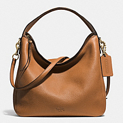BLEECKER PEBBLED LEATHER SULLIVAN HOBO - f31623 -  GOLD/BURNT CAMEL