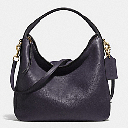BLEECKER SULLIVAN HOBO IN PEBBLE LEATHER - f31623 -  GOLD/ULTRA NAVY