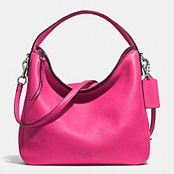 BLEECKER SULLIVAN HOBO IN PEBBLE LEATHER - f31623 -  SILVER/PINK RUBY