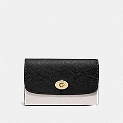 COACH F31650 Medium Envelope Wallet In Colorblock CHALK/BLACK MULTI/LIGHT GOLD