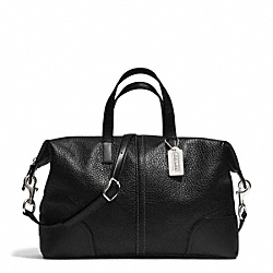 COACH F31663 - HADLEY LUXE GRAIN LEATHER ZIP SATCHEL SILVER/BLACK