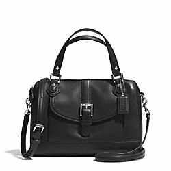 COACH F31689 Charlie Jessa Leather Mini Satchel  SILVER/BLACK