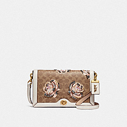 COACH F31693 - RILEY IN EMBELLISHED SIGNATURE ROSE PRINT B4/CHALK