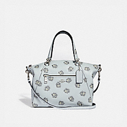 PRAIRIE SATCHEL WITH ROSE PRINT - F31711 - SKY/SILVER
