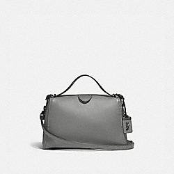 COACH F31724 - LAURAL FRAME BAG HEATHER GREY/BLACK COPPER