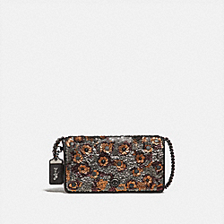 DINKY WITH LEATHER SEQUIN - F31732 - BLACK MULTI/BLACK COPPER