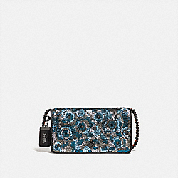 DINKY WITH LEATHER SEQUIN - F31732 - BLUE MULTI/BLACK COPPER