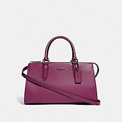 BOND BAG WITH SNAKESKIN DETAIL - F31736 - GM/DARK BERRY