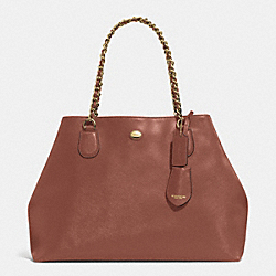 COACH F31752 - PEYTON LEATHER CHAIN TOTE BRASS/SADDLE