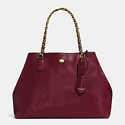 COACH F31752 - PEYTON LEATHER CHAIN TOTE IM/SHERRY
