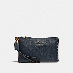COACH F31794 Small Wristlet With Rivets B4/MIDNIGHT NAVY