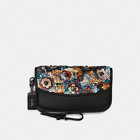 COACH F31833 CLUTCH WITH LEATHER SEQUIN BP/MULTI