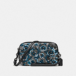SADIE CROSSBODY CLUTCH WITH SEQUINS - F31834 - BLUE MULTI/BLACK COPPER