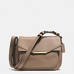 COACH F31844 - TAYLOR LEATHER MINI FLAP CROSSBODY IM/FLIGHT GOLDNT