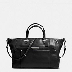 TAYLOR LEATHER ELISE ZIP TOP SATCHEL - f31847 -  SILVER/BLACK